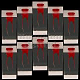 10Pcs Dental Model Typodont Root Canal Endodontic Drilling Exercise Module Tooth (8005 Red 10 Pcs, 2 pulps)