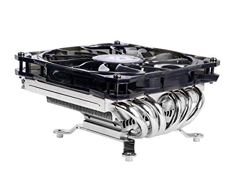 ID-COOLING IS-60 Low Profile CPU Cooler for Intel/AMD 55mm Height AM4 CPU Cooler 6 Heatpipes CPU Air Cooler 120mm PWM Fan