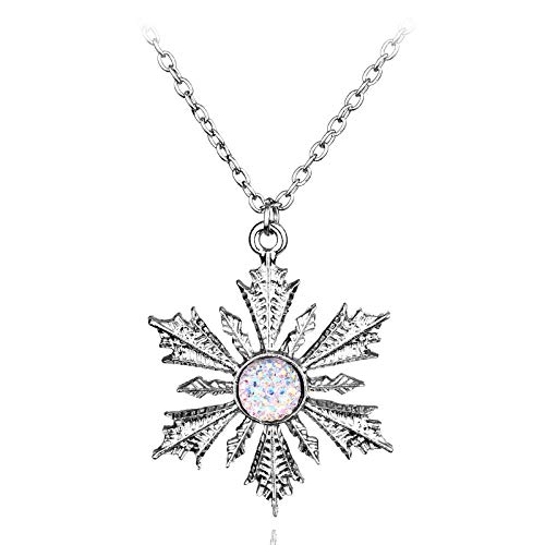 WYFLL Anna Frozen.Elsa Family Christmas Snowflake Necklace Jewelry European and American Film Surrounding