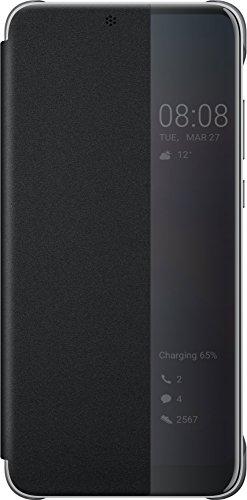 Huawei Officiel Smart View Flip Cover Coque Housse Étui pour Huawei P20 - Noir - 5.8 pouces
