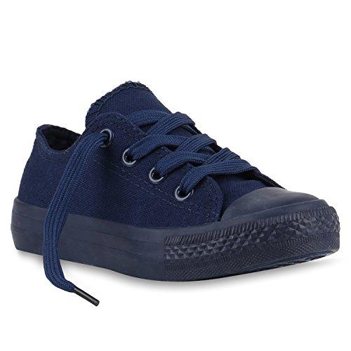 Stiefelparadies Kinder Sneakers Viele Farben Sportschuhe Turnschuhe Schnürschuhe 139822 Dunkelblau Blue 27 Flandell