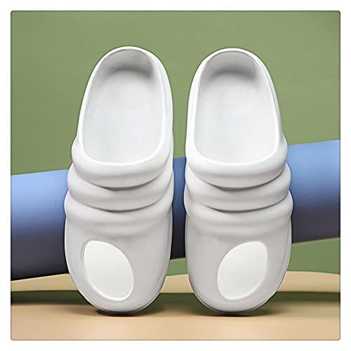 NJZYB Zapatillas De Hombre Zapatillas De Casa Zapatillas De Verano Sandalias De Playa Cómodas Chanclas De Diapositivas Transpirables (Color : White, Size : 43yards)
