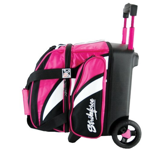 KR Strikeforce Cruiser Rollbare Bowlingtasche mit 1 Rad, Pink/Weiß/Schwarz