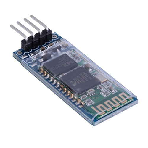 HiLetgo HC-06 RS232 4 Pin Wireless Bluetooth Serial RF Transceiver Module Bi-Directional Serial Channel Slave Mode for Arduino
