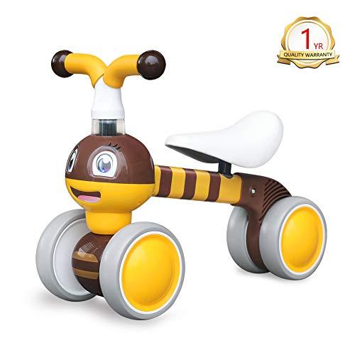 YGJT Kinder Laufrad ab 1 Jahr | Fahrrad Spielzeug für 10 - 36 Monate Junglen und Mädchen | Rutschrad Baby Geschenk für Ersten Geburtstag Neu Jahr (Biene)