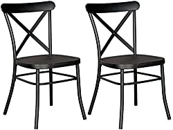Farmhouse chairs Cyber Monday deals. Black metal dining chairs.