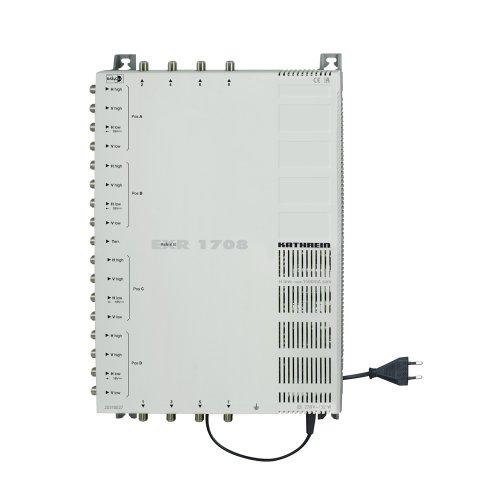 Kathrein EXR 1708 Satelliten-ZF-Verteilsyste Multischalter (4 Satelliten, 17 auf 8 Teilnehmeranschlüsse, Klasse A)