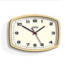 Complete with a matte finish and retro style, this classic wall clock is decorated with a mustard yellow finish and complementing white face and black hands. Sizes Available: 5cm x 23cm x 17cm Care Instructions: Wipe clean with a soft cloth Material:...