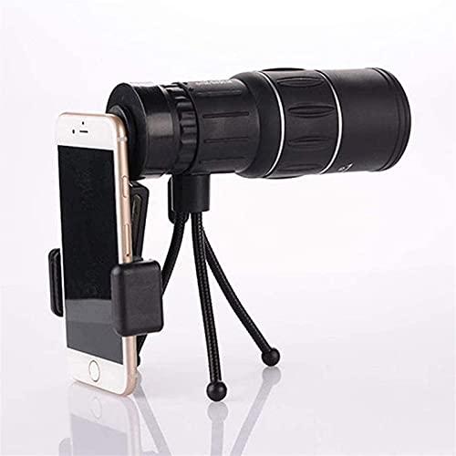GaoF 16 Veces; 52 Monocular HD de Alta Potencia con Soporte para teléfono Inteligente y trípode, Monocular Impermeable, Lente de Vidrio óptico Totalmente Multicapa,