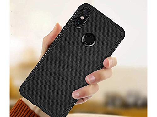 Ankirant® Grip Back Case Cover for Motorola Motorola One Power (Soft Silicon Flexible Full Body and Camera Protection Case) - Black