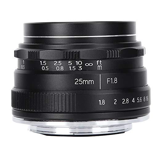 Lente de cámara, 25 mm F1.8 M4 / 3 Montura de gran apertura Lente de retrato de gran angular pequeño para cámara 4/3, para cámara Olympus Micro 4/3