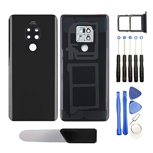 YHX-OU für Huawei Mate 20 HMA-L09, HMA-L29 Backcover Akkufachdeckel Batterieabdeckung Rückseite+ Montagewerkzeug+ SIM Cato Pin & Cato+Werkzeug zerlegen (Schwarz)