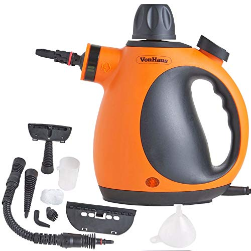 VonHaus Multi-Purpose Handheld Portable Steam Cleaner with Accessories –...