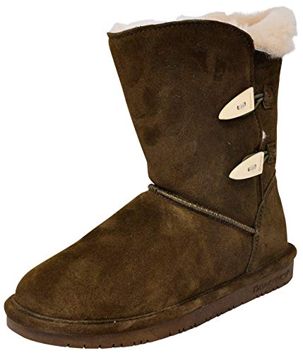 BEARPAW Women's Abigail Fashion Boot, Loden 8 M US