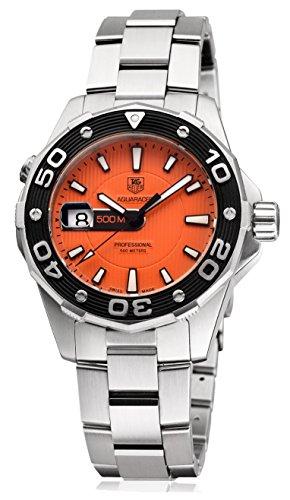 TAG Heuer WAJ1113.BA0870 - Reloj de Pulsera Hombre, Acero Inoxidable, Color Gris