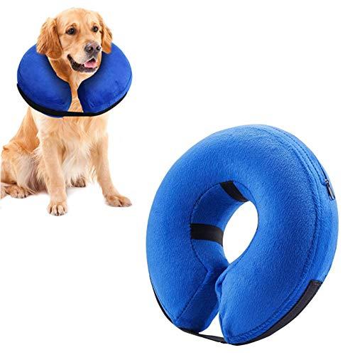 Collare per cane medio gonfiabile per animali domestici Emwel, comodo collare affusolato per Revecovery, collare per cane base gonfiabile, M.