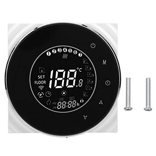 Socobeta Termostato para calefacción de caldera, AC95-240 V, pantalla LCD, programable, resistente al fuego, para Google Alexa