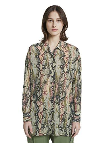 TOM TAILOR DENIM damesblouses, shirts & oversize blouse met slangenprint
