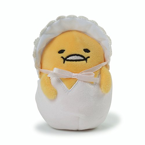 Gund Anime: Sanrio Gudetama Das Faule Ei - Baby Plüsch, 11.4CM - Gelb und Weiß