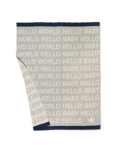 Abbott Collection 91-SNUGGLE-07 Hello Baby Sm Throw-Gry-32x40 L,