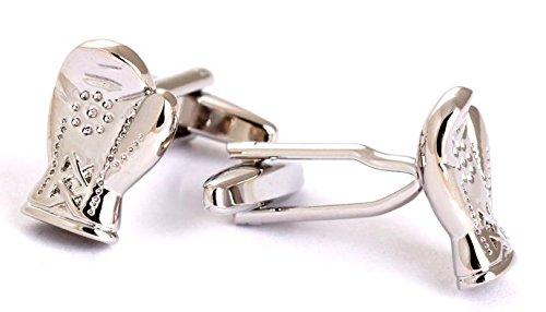 Gemelolandia Boutons de manchette en forme de gants de boxe silver Couleur acier