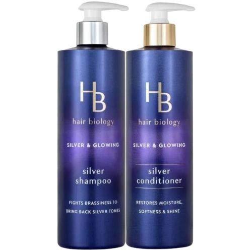 Hair Biology Silver Shampoo and Conditioner Set. 12.8 Fl Oz. Bottles....