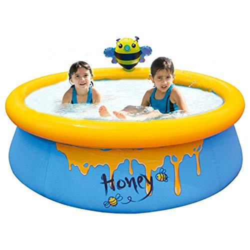 Piscinas inflables Piscina de agua con forma de tarro de miel, piscina redonda para entretenimiento de niños y adultos, pared de PVC laminado de 3 capas de calibre, bañera inflable para juegos