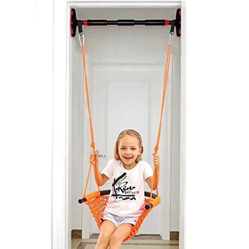 Kit de columpio para puerta - Columpio sensorial para interior para niños - Incluye barra de oscilación de puerta y asiento de silla de oscilación - Límite de peso de 330 libras. - Edad recomendada 3+