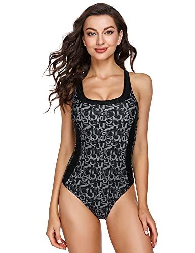 Sykooria Bikini Mujer Conjuntos Brasileño, Verano Playa Traje de BañAdores Traje Mujer, Traje De Baño de Una Pieza Cuello e Redondo Traje,Bañador para Mujer Push Up Bikini Playa,Piscina