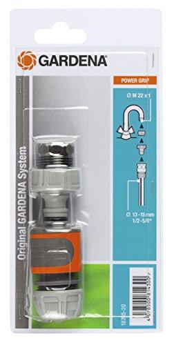 Gardena Schnellanschluss-Satz: Wasserhahnanschluss-Set für den schnellen Anschluss von 13 mm (1/2 Zoll)- und 15 mm (5/8 Zoll) Wasserschläuchen (18285-20)