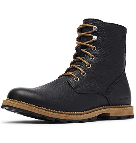 Sorel Men's Madson 6 Waterproof Boots, Black/Ancient Fossil, 7 Medium US