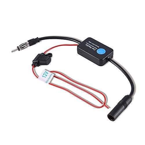 Amplificador de señal de amplificador de antena de coche Keenso, Amplificador de recepción de señal de antena aérea de radio FM para coche