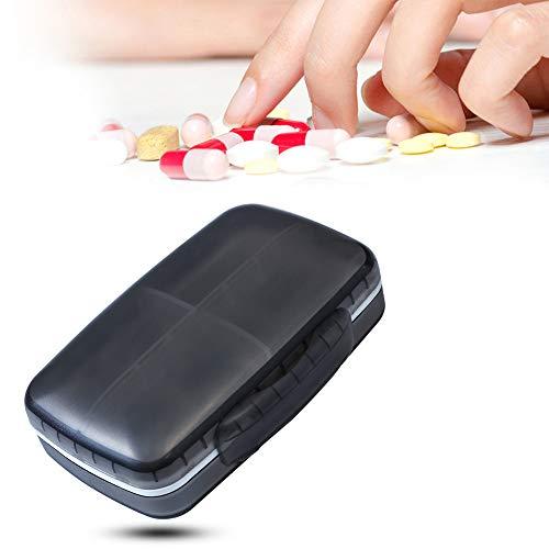 Festnight pillenorganizer, draagbare mini-pillen-organizer met kleine en grote vakken. Vochtbestendig PP in levensmiddelenkwaliteit. Stofdicht voor op reis. Wandelen met 8 roosters.