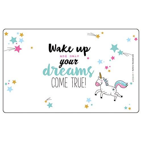 PFIFF Frühstücksbrettchen 'Wake Up', weiß, one size