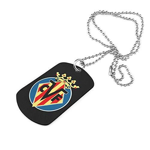 Shanghao Vill-ARR-EAL CF Football Club Collar Militar de Acero Inoxidable Etiqueta de...