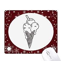黒ゴマアイスクリームビスケットの概要 オフィス用雪ゴムマウスパッド