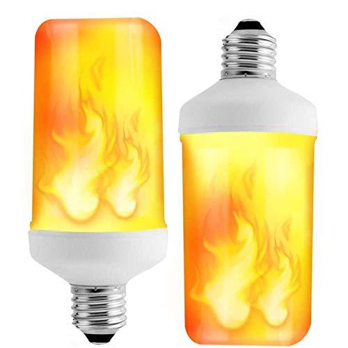HONGLONG Bombillas de Efecto de Llama LED, Bombillas de Fuego parpadeantes E26 con Efecto al revés para Navidad/Hogar/Hotel/Bar Decoración de la Fiesta (Paquete de 2)