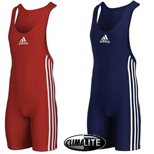 adidas, Performance Basic, dubbele pak voor heren, rood/blauw, ringpak, maatkeuze