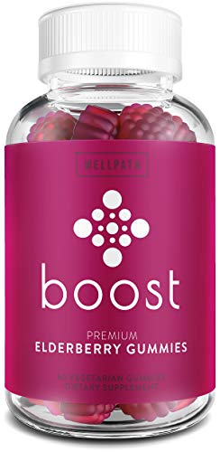 Boost Premium Elderberry Gummies with Zinc (60ct) | Zinc & Vitamin C Elderberry Gummies for Adults | Non-GMO, Vegan Sambucus Black Elderberry Gummy Vitamins