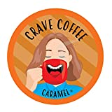 Crave Flavored Coffee Pods, Compatible with 2.0 K-Cup Brewers, Caramel, 40 Count