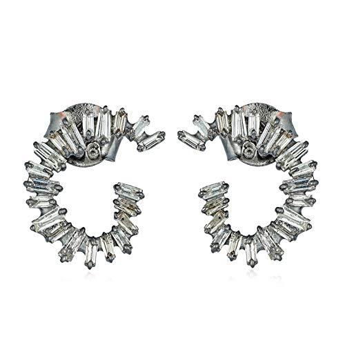 Jaipur Diamond Jewels 925 Sterling Silver and 14K Gold Baguette Earrings for Women - Women's Designer Earrings - Earrings For Occasion
