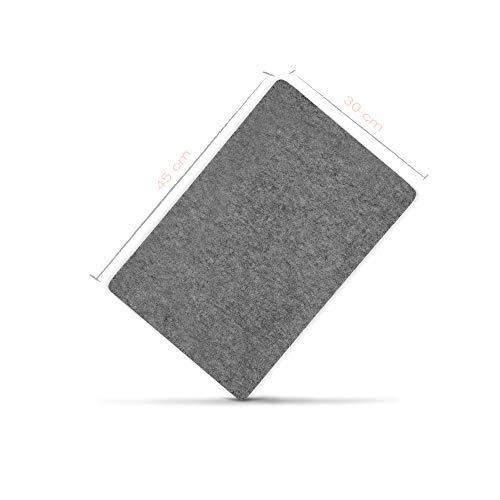 denc Premium Bügelmatte 100% Schurwolle - Bügeldecke für Dampfbügeleisen - hitzebeständig - wärmereflektierend - Bügelkissen - 1,3 cm x 45 cm x 30 cm