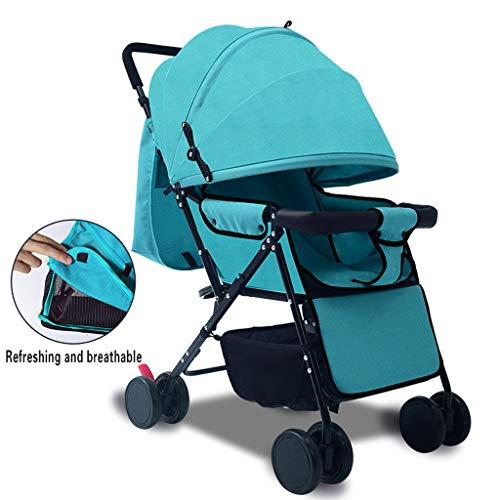 XYSQ lichte buggy, lichte buggy, compacte cabriolet auto buggy, kan seduti, lay down worden ingeklapt, eenvoudig opbergen van trolley (Vino rood)