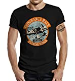 Camiseta para Airborne Racing US Airforce Fans: Extreme Wings Negro L...