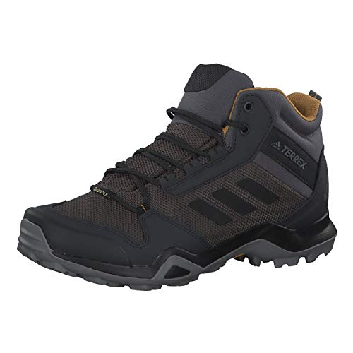 adidas Mens TERREX AX3 Mid GTX Walking Shoe, Grey/Core Black/Mesa, 43 1/3 EU