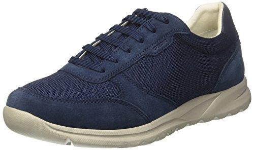 Geox Herren U Damian C Sneaker, Blau (Blue), 46 EU