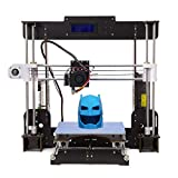 tigtak A8 3D Printer DIY Wooden Écran LCD haute précision Bureau 3D Printer Kit, Taille de la construction 220 * 220 * 240 mm