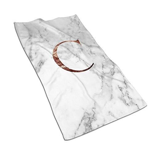 Genertic 27.5 * 15.7in Handdoek Logo Rose Marble C Zachte Super Absorbent Fluffy Handdoek Katoen Gepersonaliseerd Vierkant Gezicht Zacht Hotel Bad