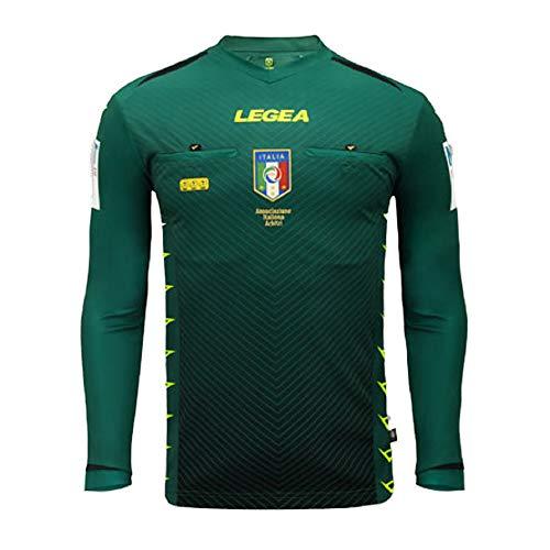 LEGEA 2020/2021, Maglia Arbitro AIA M/L Uomo, Verde, M
