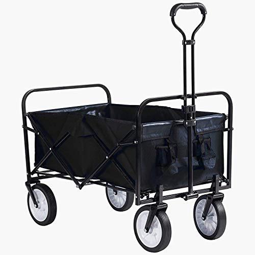Grandma Shark Heavy Duty Garden Cart, Folding Wagon Utility Truck Garden...